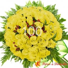 Ramo 100 Rosas Amarillas