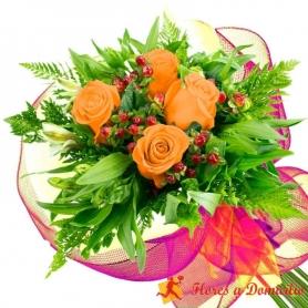 Ramo 4 Rosas Damasco