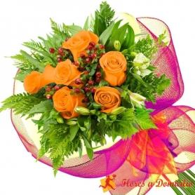 Ramo 6 Rosas Damasco