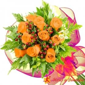 Ramo 10 Rosas Damasco
