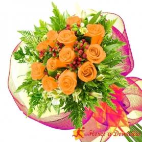 Ramo 12 Rosas Damasco