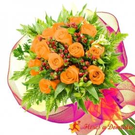 Ramo 14 Rosas Damasco