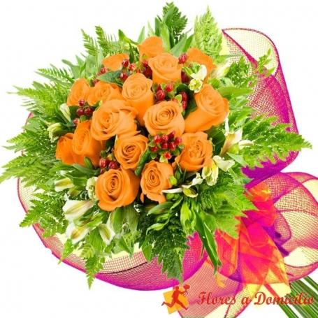 Ramo 16 Rosas Damasco