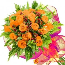 Ramo 18 Rosas Damasco