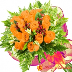 Ramo 20 Rosas Damasco
