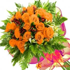 Ramo 22 Rosas Damasco
