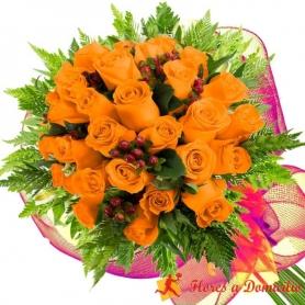 Ramo 24 Rosas Damasco