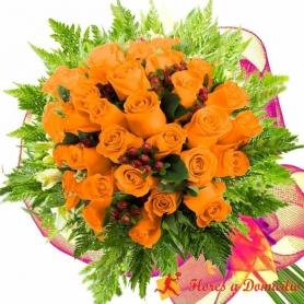 Ramo 28 Rosas Damasco