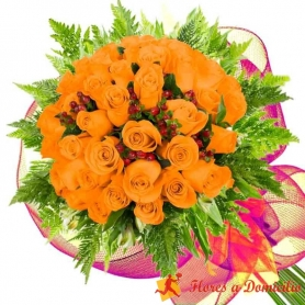 Ramo 32 Rosas Damasco