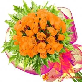 Ramo 36 Rosas Damasco